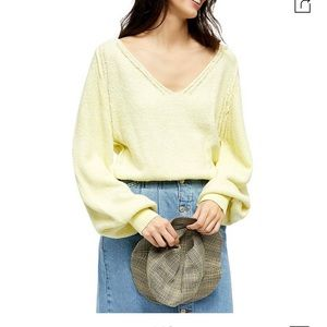 Free people v neck spring summer sweater XS